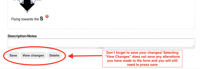 Save buttons at the bottom of the form